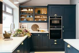 navy blue kitchen cabinets with black handles house tour an and timeless period home for all navy
