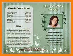 doc 630490 funeral program format template u2013 funeral program