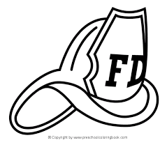 firefighter hat coloring pages awesome pictures