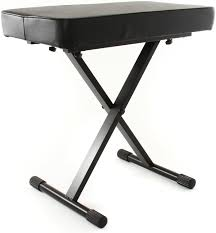 Keyboard Stand And Bench On Stage Stands Kt7800 Deluxe X Style Bench Sweetwater