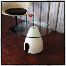 martini table space age eames era airplane spinner cone coffee table aviation