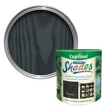 Diy L Shade Cuprinol Garden Shades Black Ash Matt Wood Paint 2 5l Garden