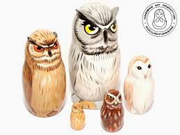 Owl Decor Owl Nesting Dolls 11 Cm Matryoshka Russian Nesting Doll 5