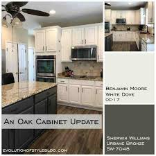 best granite for white dove cabinets white dove and urbane bronze painted cabinets evolution of