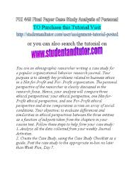 how to write a good analysis paper phi 445 final paper case study analysis of personal and organizationa