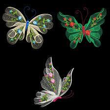 flutterby 1 30 machine embroidery designs azeb ebay