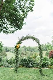 Wedding Arch Greenery Funky Flower And Fruit Filled Wedding At Crabtree U0027s Kittle House