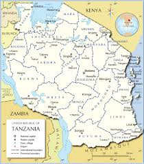 Interactive Map Of Africa by Administrative Map Of Tanzania Nations Online Project