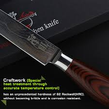 haoye 2 pcs damascus kitchen knives set chef knife utility knife