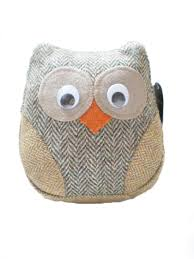 harris tweed owl doorstops all products hebridean store