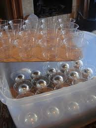 how to store glass bulb ornaments using plastic cups