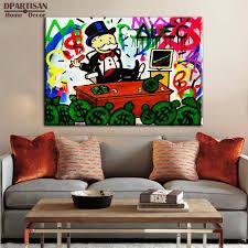 Graffiti Art Home Decor Aliexpress Com Buy New Fashion Stock Alec Monopoly Graffiti Arts