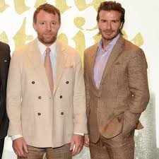 david beckham guy ritchie celebrate king arthur premiere with sons