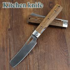 folded steel kitchen knives herbertz rostfrei 440a pocket folding kitchen chef knife table