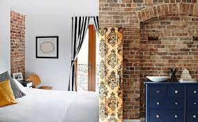 Industrial Interior Design Bedroom by Exposed Brick Walls Of 1888 Hotel Industrial Looks Bedroom Design