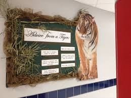 advice from a tiger bulletin board for high used a tiger