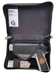 Silver Bookshelf Leather Concealed Carry Or Bookshelf Bible Gun Case With Silver Or