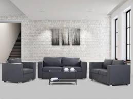 furniture elegant living room with dark grey settee sofa and
