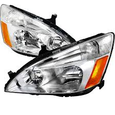2004 honda accord headlights honda accord 2003 2008 chrome headlights honda accord
