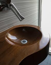 hand made wood sink basin by cannery village casegoods