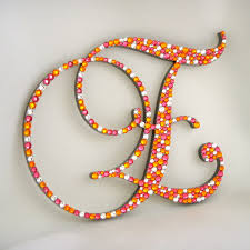 love this bold color combo monogram cake topper wedding ideas