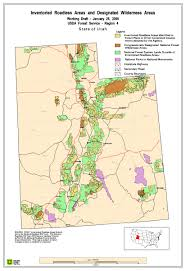 Utah Map National Parks by Roads In National Forests