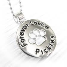 personalized paw print necklace paw prints pet memorial necklace personalized name with paw