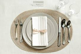 place settings tie a bow around napkins to give your place setting a