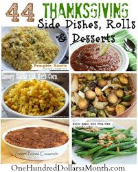 thanksgiving side dishes and dessert recipes one hundred dollars