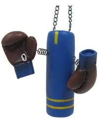 boxing gloves and punching bag ornament boxing