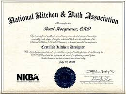 Certified Kitchen Designer by Our Skills And Certifications