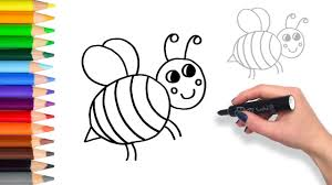 how to draw baby bumble bee coloring pages for kids youtube