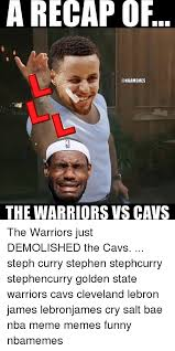 Lebron James Crying Meme - a recap of the warriors vs cavs the warriors just demolished the