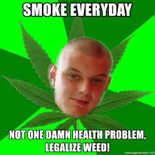 Legalize Weed Meme - smoke everyday not one damn health problem legalize weed typical