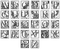 free decorative ornamental letters of the alphabet