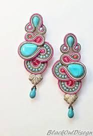 soutache earrings soutache earrings handmade earrings embroidered by lavibijoux