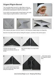origami pilgrim s bonnet