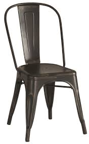 iron dining chair 4 pc dining chairs industrial black color metal chairs coaster 105612