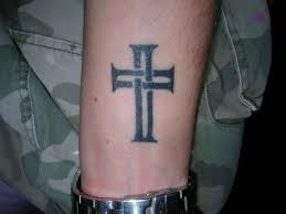 colorful arm tattoos small cross tattoos on forearm