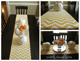 crafty texas girls crafty how to no sew table runner for the