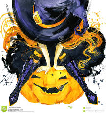 witch halloween holiday halloween festival watercolor hand