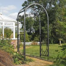 metal garden archway home outdoor decoration