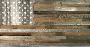 reclaimed wood american flag artis wall