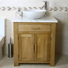 oak vanity unit with white marble top bathroom prestige home