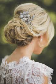 antique hair combs mass of curls wedding updo with antique hair