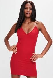 spaghetti dress spaghetti bodycon dress missguided