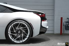 custom white bmw bmw i8 forged sv62 savini wheels butler tires u0026 wheels