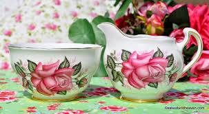 vintage china with pink roses colclough vintage large pink milk jug sugar bowl