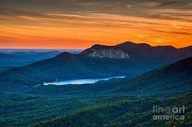 table rock mountain sc sunset over table rock from caesars head state park south carolina