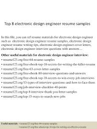 Software Qa Engineer Resume Sample Top8electronicdesignengineerresumesamples 150517030452 Lva1 App6891 Thumbnail 4 Jpg Cb U003d1431831936
